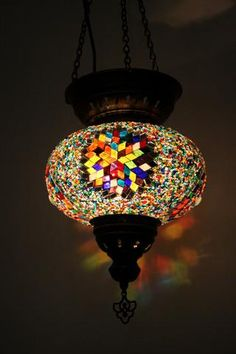Ambient Star Turkish Glass Mosaic Lampshade