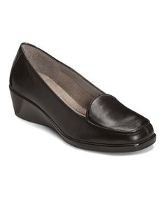 Take a look at this Black Tembroidery Wedge Loafer by A2 by Aerosoles on #zulily today! $30 !!
