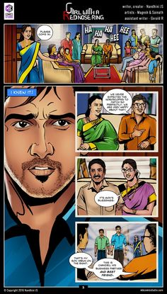 Sivappu Kal Mookuthi (a.a Girl with a Red Nose Ring): Page 05 Comic Book In Hindi, Online Comic Books, Read Comics Online, Free Comic Books, Movies Online, Comics Pdf, Download Comics, Free Comics, Funny Comics
