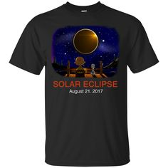"""If you love the shirt """"Snoopy and Charli..."""". Check it out here! http://summeupshop.com/products/snoopy-and-charlie-brown-solar-eclipse-august-21-2017-unisex-t-shirt-tank-hoodie?utm_campaign=social_autopilot&utm_source=pin&utm_medium=pin"""