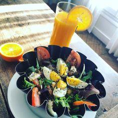 salade #salade #juicedeorange #eggs