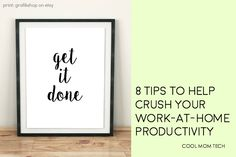8 simple, tried-and-true productivity tips if you work at home including ideas we bet you haven't considered.
