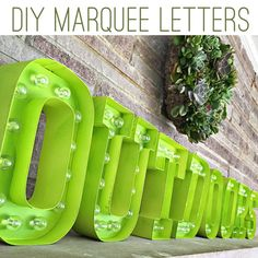 DIY Marquee Letters | Ashley Hackshaw / Lil Blue Boo