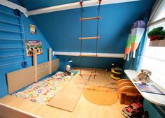 Playroom with a built-in mosh pit