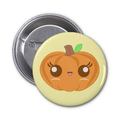 Cute Baby Pumpkin Button