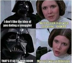 OOH BURN…oh wait. Can't say burn about Darth Vader. <<< I know I just pinned this, but that comment is way to awesome to ignore!