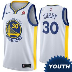 5007e1478fb5 Golden State Warriors Nike Dri-FIT Youth  The Town  Klay Thompson  11  Earned Edition Swingman Jersey - Gold