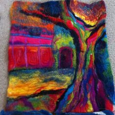 Embroidery Projects Machine embroidery on felt - yet another skill to learn. Free Motion Embroidery, Felt Embroidery, Machine Embroidery Patterns, Embroidery Ideas, Wet Felting Projects, Felting Tutorials, Nuno Felting, Needle Felting, Felt Wall Hanging
