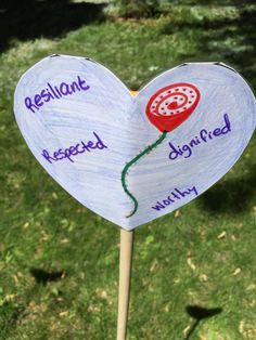 One of the hearts planted in the Heart Garden at Rideau Hall in Ottawa on June 3, 2015.