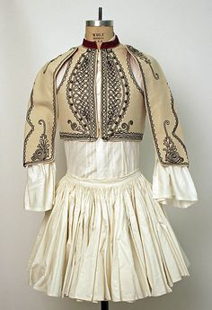 Greece, man's ensemble, cotton skirt and shirt, embroidered wool bolero, Folk Clothing, Greek Clothing, Antique Clothing, Historical Clothing, Greek Traditional Dress, Traditional Outfits, Textiles, Vintage Outfits, Vintage Fashion