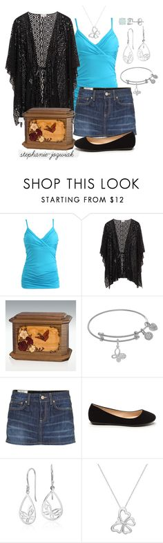 """Mira's Outfit for Scatting Her Mother's Ashes"" by stephanie-jozwiak ❤ liked on Polyvore featuring Wet Seal, Dondup, Blue Nile and Silver Treasures"