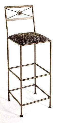 Extra Tall Neoclassic Wrought Iron Bar Stools