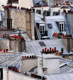 Paris Rooftops by chlook, via Flickr