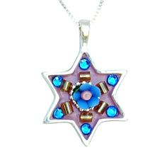 Star of David Necklace by Ester Shahaf Judaica Jewish Jewelry Bat Mitzvah Gifts