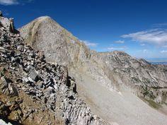 The Pfeifferhorn 11,326' (Utah, Wasatch Mountains)  I hiked it 8/7/10.  Photo by John Davies