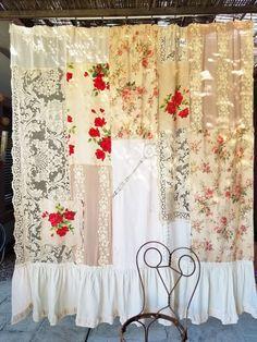 Trendy Home Boho Decor Curtains Decor, Boho Curtains, Shabby Chic Shower, Boho Decor, Boho Shower Curtain, Rustic Fabric, Shabby Chic Bathroom, Shabby Chic Shower Curtain, Shabby Chic Curtains