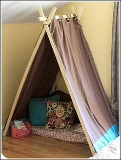 tent out of tabbed curtains