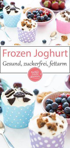 Gesunder Frozen Joghurt: Dieser köstliche Frozen Joghurt ist blitzschnell gemac… Healthy Frozen Yogurt: This delicious frozen yogurt is made lightning fast. The Frozen Yogurt recipe without sugar, egg and cream is healthy, low in fat and low in calories. Healthy Frozen Yogurt, Frozen Yoghurt, Frozen Fruit, Dessert Oreo, Keto Approved Foods, Keto Diet Vegetables, Ketogenic Diet Starting, Desserts Sains, Vegan Keto Diet