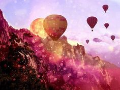 Hot-air balloons.