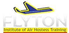 Flyton institute offers air hostess training,pilot training,Air Hostess (Cabin Crew), Airport Ground Staff, Airport Customer Service Staff, Traffic assistant, Documentation staff in Cargo until Airport manager