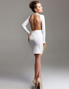 Backless Longsleeve Bodycon Dress - OMG!  Why do I have backFAT! UGH!  I WANT THIS DRESS!