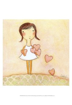"""Some days feel exactly like this as I give pieces of myself to people I meet along my path. :: """"With All My Hearts"""" print by one of my favorite artists Carla Sonheim"""