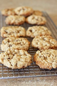 I consider oatmeal cookies the health food of cookies. Oatmeallowers cholesterol, right? I love the hint of cinnamon in these cookies. Both regular and quick cooking oats are fine in this recip...