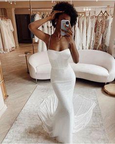Best Wedding Dresses Collections for 2021/2022 ❤ best wedding dresses sheath with spaghetti straps sweetheart neckline madewithlove #weddingforward #wedding #bride