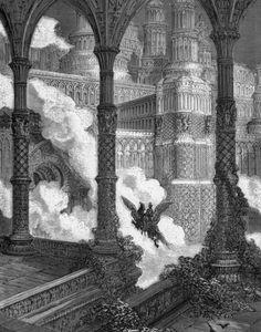 History of Art: Gustave Dore Gustave Dore, Art Sombre, Saint Dominique, Paris, Dante Alighieri, Arte Horror, Classical Art, Wood Engraving, Old Art