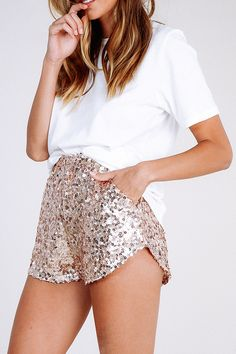 Party Line Sequin Shorts - Verge Girl