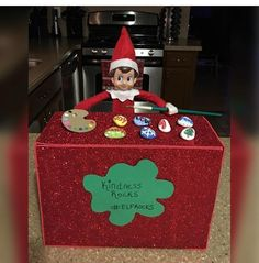 Most up-to-date Totally Free Funny and Easy Elf on the Shelf Ideas for Kids Tho., up-to-date Totally Free Funny and Easy Elf on the Shelf Ideas for Kids Thoughts Check out these funny and easy Elf on the Shelf Ideas for Kids. Christmas Elf, Christmas Crafts, Christmas 2019, Awesome Elf On The Shelf Ideas, Kindness Elves, Kindness Rocks, Elf Auf Dem Regal, Holiday Activities For Kids, Elf On The Self