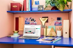 dc690ac1b2 Colorful workspace-Masqueespacio-Eclectic Trends Design Firms