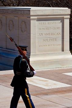I am the Unknown Soldier And I did not die in vain, If I were alive and my Country called, I'd do it all over again