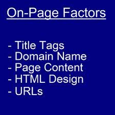 On Page Seo Factors You Need To Know...