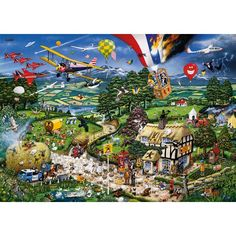 "Jigsaw puzzle - Mike Jupp ""I love the country"" (UK puzzle)"