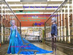 Good going Elsa! Jack and Elsa experiencing married life. Jelsa, Elsa Frozen, All Disney Movies, Jack Frost And Elsa, Funny Disney Memes, Making A Movie, It Takes Two, Great Love, Married Life