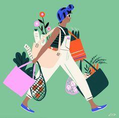 Becoming: Libby VanderPloeg - Trend Illustration Design 2019 Art And Illustration, Character Illustration, Graphic Design Illustration, Graphic Art, Street Art Graffiti, Buch Design, Art Drawings, Art Paintings, Sketches