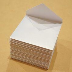 3 1/4 x 3 1/4 envelopes  Free Shipping  25 white by BurntCarmine