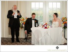 Funny toasts during wedding at River Creek Country Club in Leesburg, Virginia