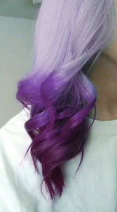 Hair color : beautiful purple ombre. Great for a quick fix when your all over purple stats to fade, or a fun change up
