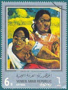 Yeman Arab Republic Stamp (1968) Gauguin
