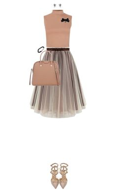 """""""Crop Top and a High-Waisted Skirt"""" by ittie-kittie ❤ liked on Polyvore"""