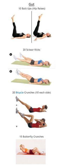 Butt  Gut workout week 3 Repeat 3 times http://www.tone-and-tighten.com/2013/10/butt-and-gut-workout-series-week-3.html#more #Fitness #Workout Pin/Via -