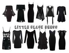 """""""little black dress"""" by dreamerz-dream-on ❤ liked on Polyvore featuring Alexander McQueen, MaxMara, Boohoo, Balmain, Miss Selfridge, Paul & Joe, Victoria Beckham and Hervé Léger"""