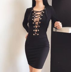 Carla Lace Up Dress