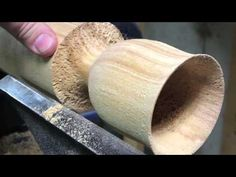 wood turning # 19 birch goblet - YouTube