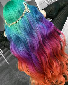"8,614 Likes, 98 Comments - PRAVANA (@pravana) on Instagram: ""A RAINBOW MANE  fit for Main Stage! @taylorrae_hair created this insane rainbow melt for her demo…"""