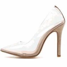 Stiletto Pumps, High Heels Stilettos, Golden Shoes, Transparent Heels, Pump Types, Clear Heels, Spring Shoes, Womens High Heels, Me Too Shoes
