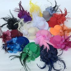 cheap Party Headpieces-Tulle Feather Fascinators Flowers Hats Headwear with Floral Wedding Special Occasion Party / Evening Headpiece Feather Headpiece, Flower Headpiece, Fascinator Hats, Headpiece Wedding, Bridal Headpieces, Style Feminin, Pink Beige, White Burgundy, Navy Blue