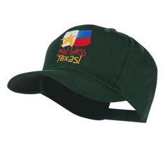God Bless Texas Embroidered Cap - Green Osfm, Men's